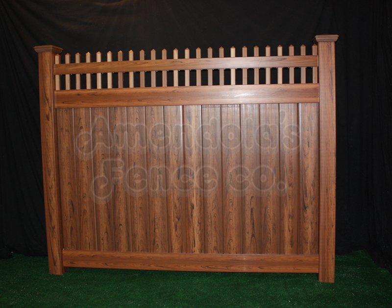 Cedar Pvc Amendola S Fence